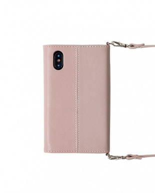 PINK BI THREE TONEショルダーベルト付きケース(iPhoneXS/X対応)見る