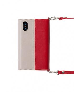 RED BI THREE TONEショルダーベルト付きケース(iPhoneXS/X対応)見る