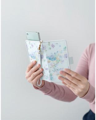 ブルー 水彩フラワー スマートフォン用手帳型マルチケースを見る