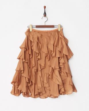 キャメルブラウン スカート見る