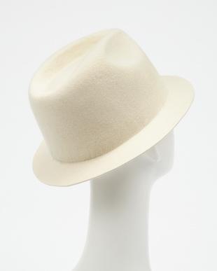 ホワイト ショートブリムフェルトハット(SHORT BRIM FELT HAT)見る