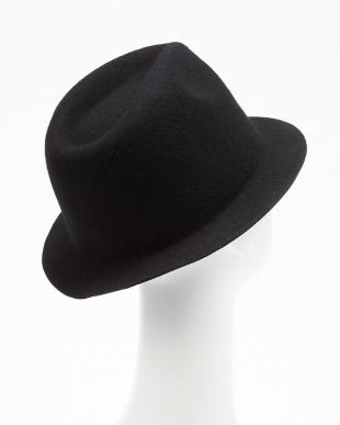 ブラック ショートブリムフェルトハット(SHORT BRIM FELT HAT)見る