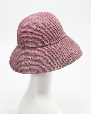 ラベンダー ラフィアの帽子見る