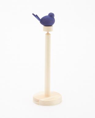 ブルー ペーパーホルダーセット(ホルダートップ水鳥ブルー)見る