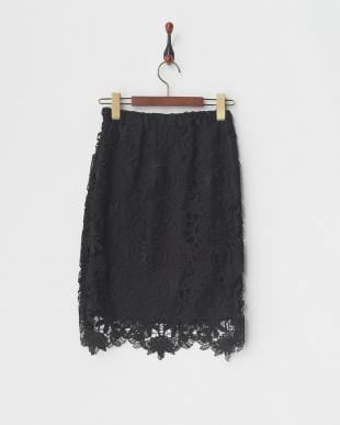 ブラック レースタイトスカート見る