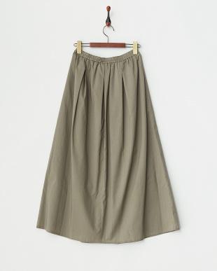 カーキ ギャザースカート見る