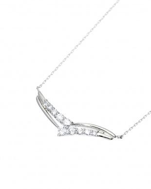 Pt900/Pt850 天然ダイヤモンド 計0.2ct デザイン プラチナネックレス見る