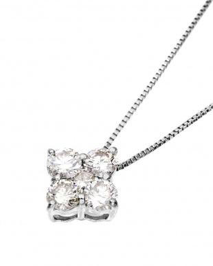 Pt900/Pt850 天然ダイヤモンド 計0.5ct デザイン プラチナネックレス見る