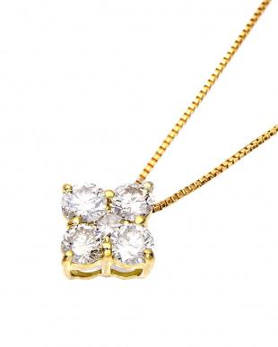 K18YG 天然ダイヤモンド 計0.5ct デザイン ネックレス見る