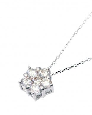 K18WG 天然ダイヤモンド 計0.3ct デザイン ネックレスを見る