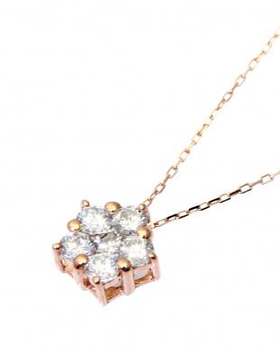 K18PG 天然ダイヤモンド 計0.3ct デザイン ネックレスを見る