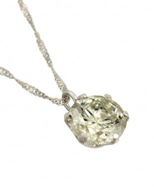 PT900/PT850 天然ダイヤモンド 大粒 0.6ctアップ プラチナ 6本爪 ネックレス見る