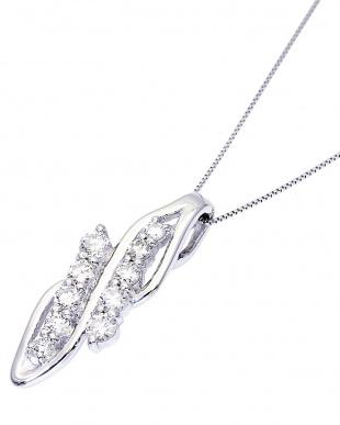 PT900/PT850 天然ダイヤモンド 計0.5ct デザイン ネックレス ベネチアン40cm見る