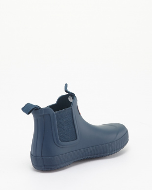 DARK LAKE BLUE KIDS FLAT SOLE CHELSEA見る