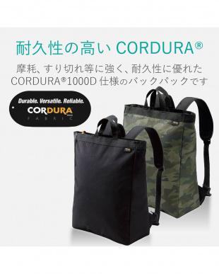 ブラック バックパック/CORDURA(R)1000Dを見る