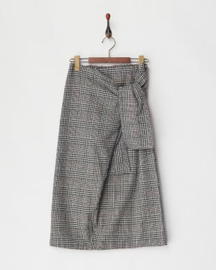 07 ウールチェックノットリボンスカート見る