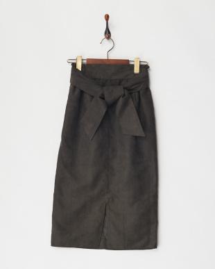 98 スエードベルテッドイージータイトスカート見る