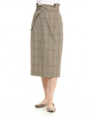 40 レトログレンチェックタイトスカート見る