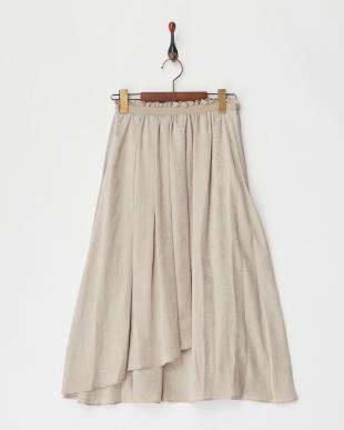 14 ピーチサテンラップギャザースカート見る