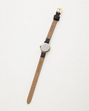 GLD/BLK Geneve 手巻き 革ベルト ウォッチ見る