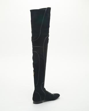 NERO ストレッチゴートスエード+子牛 Boot NERO見る