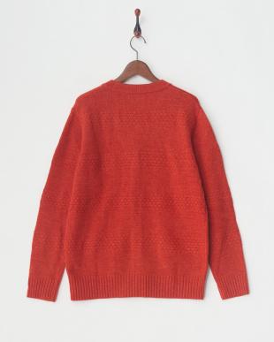 オレンジ 変わり編みカーデ|UNISEXを見る