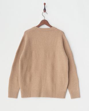 ベージュ 変わり編みカーデ|UNISEXを見る