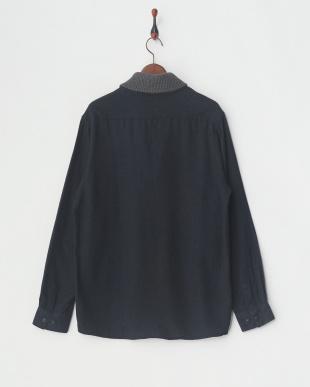 チャコールグレー 衿リブシャツ|UNISEXを見る