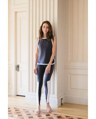 charcoal bi-color sporty legging見る