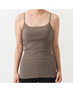 khaki stretch feminine strappy cami見る