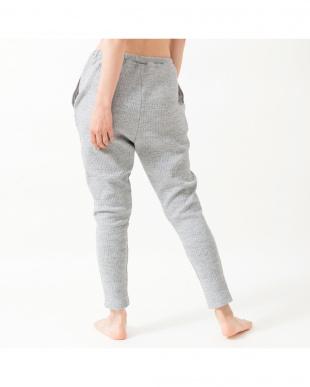 heather gray comfy stretch lib sarrouel pants見る