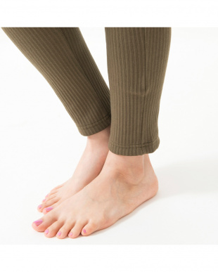 khaki comfy stretch lib sarrouel pants見る