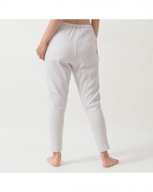 light gray comfy stretch lib sarrouel pants見る