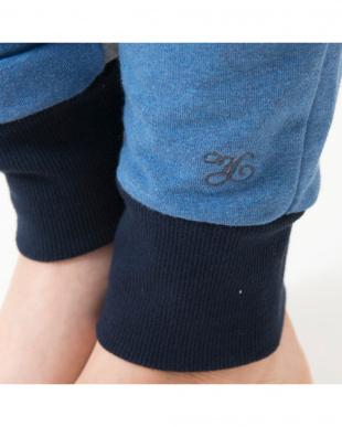 blue inside line stretch jogger pants見る