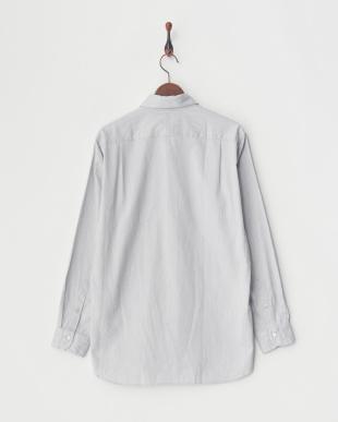 ライトグレー メランジェシャンブレーオックス比翼ボタンダウンシャツ|MEN見る