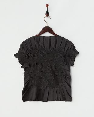 ブラック Gプリーツフレンチ袖ブラウスを見る