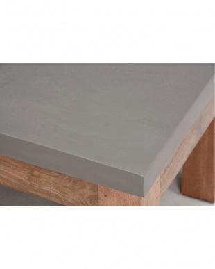 コンクリート天板ローテーブル 110×50×41cm見る