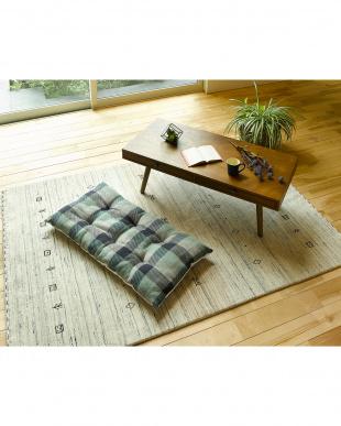 グリーン インド綿ウール混長座布団 メルモ 68×120cmを見る