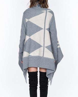 ライトグレイ Jacquard knit cardiganを見る