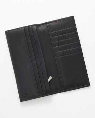 ネイビー 長財布見る