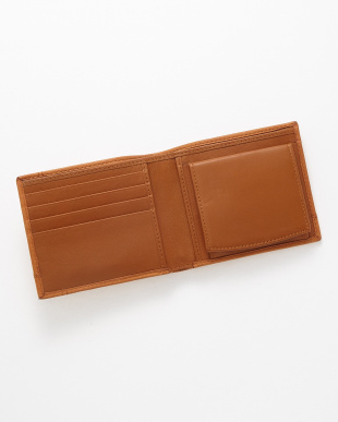 ブラウン 二つ折り財布見る
