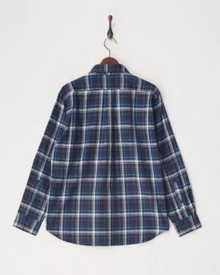 ネイビー [吸汗速乾] TSマウンテンチェックシャツL/S│MEN見る