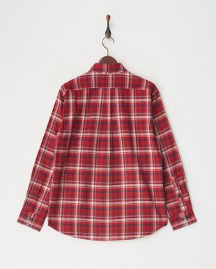 レッド [吸汗速乾] TSマウンテンチェックシャツL/S│MEN見る