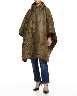 olive green DESIGNER Quilted Coat見る