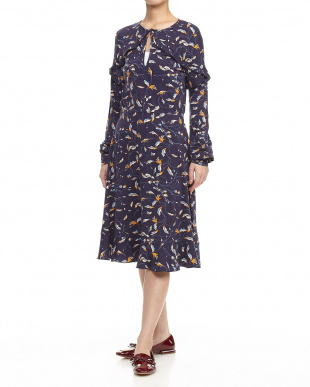 navy blue pattern DOWNTOWN Dressを見る