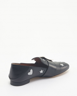 0100 BLACK SLIPPER JANELLE-HEARTS見る