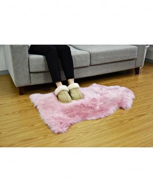 ピンク ムートン長毛ラグ 1匹 55×80cmを見る