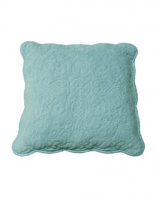 ブルー タオル素材でさらさら綿パイルクッションカバー2枚組 45×45cmを見る