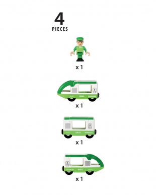 F 緑のトラベルトレイン見る