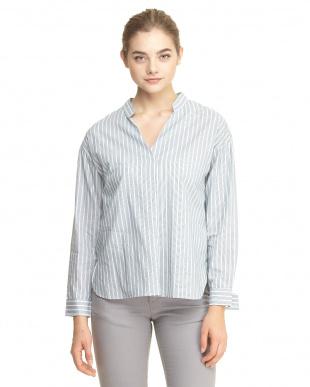 グリーン LEVITAシャツ&ベルト付半袖ニットP/O見る